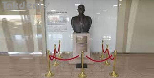 مجسمه بنیانگذار شرکت ال جی