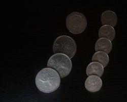 ۶ سکه پنی ۳ سکه ی ۱۰ پنی و در حراجی و فروشگاه اینترنتی