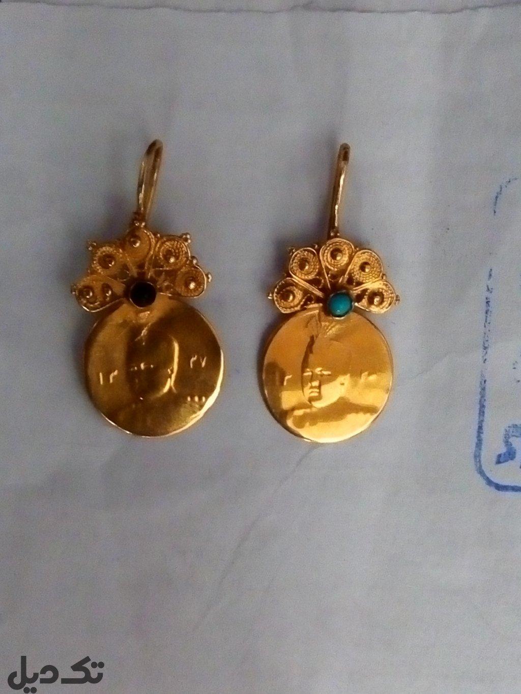 گوشواره طلای احمد شاهی