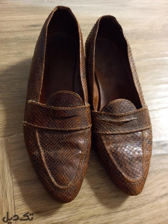 کفش پوست مار