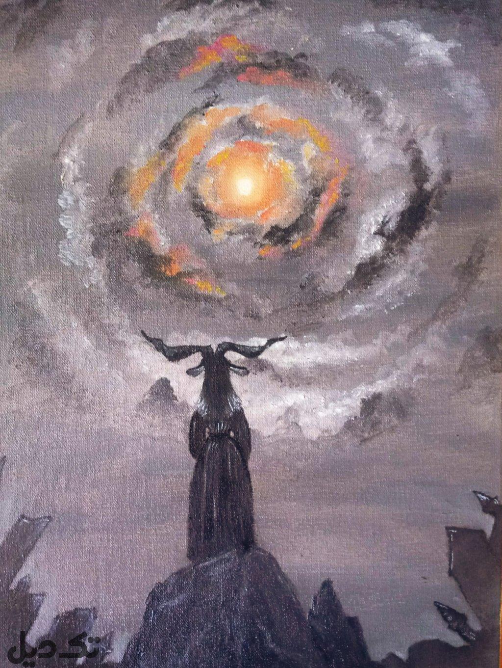 روز رستاخیز_ رنگ روغن