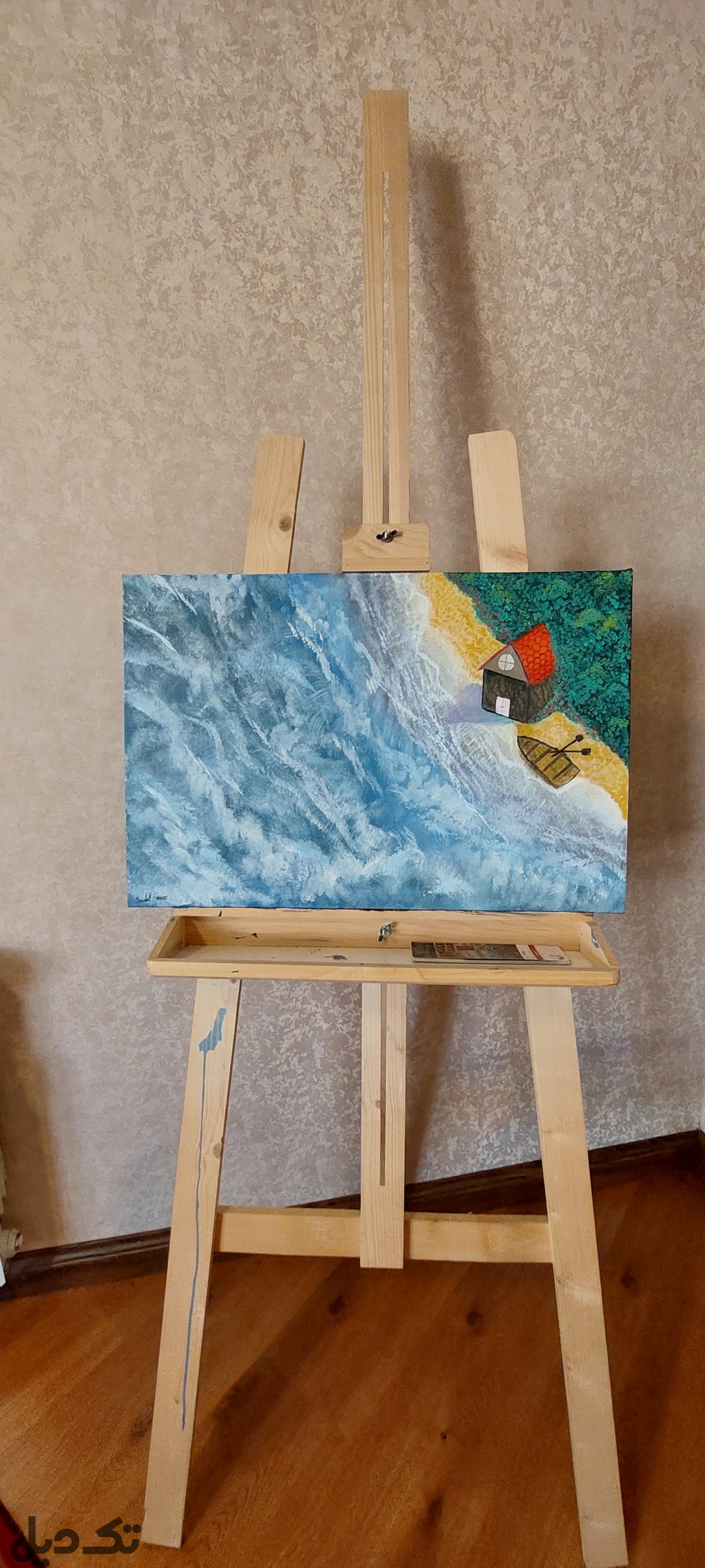 تابلو نقاشی رنگ اکرلیک