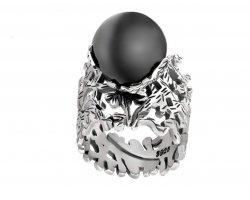 انگشتر نقره با مروارید در فروشگاه اینترنتی