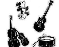استیکر تزئینی موسیقی در فروشگاه اینترنتی