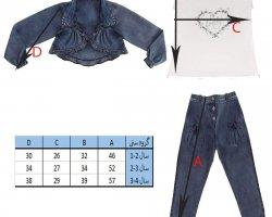 3 تکه لباس دخترانه قلب در فروشگاه اینترنتی