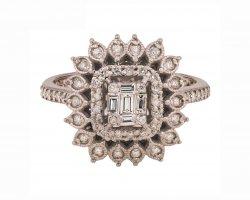 انگشتر طلا با الماس در فروشگاه اینترنتی