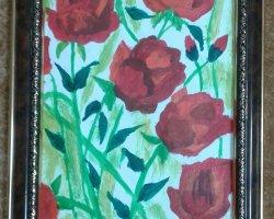 تابلوی مزرعه ی گل سرخ در فروشگاه اینترنتی