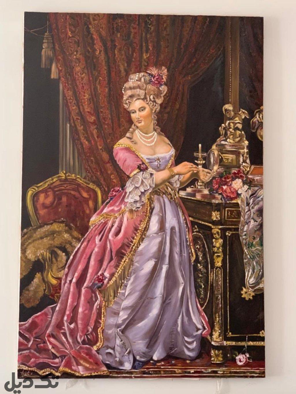 نقاشی رنگ روغن پرنسس
