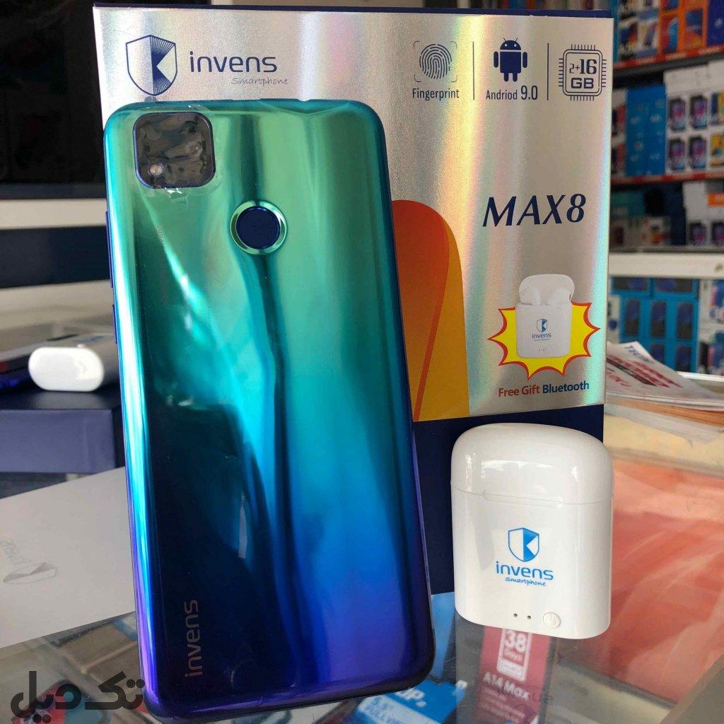 فروش گوشی invens max8 نو
