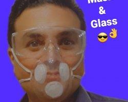 ست ماسک و عینک N100 در حراجی و فروشگاه اینترنتی