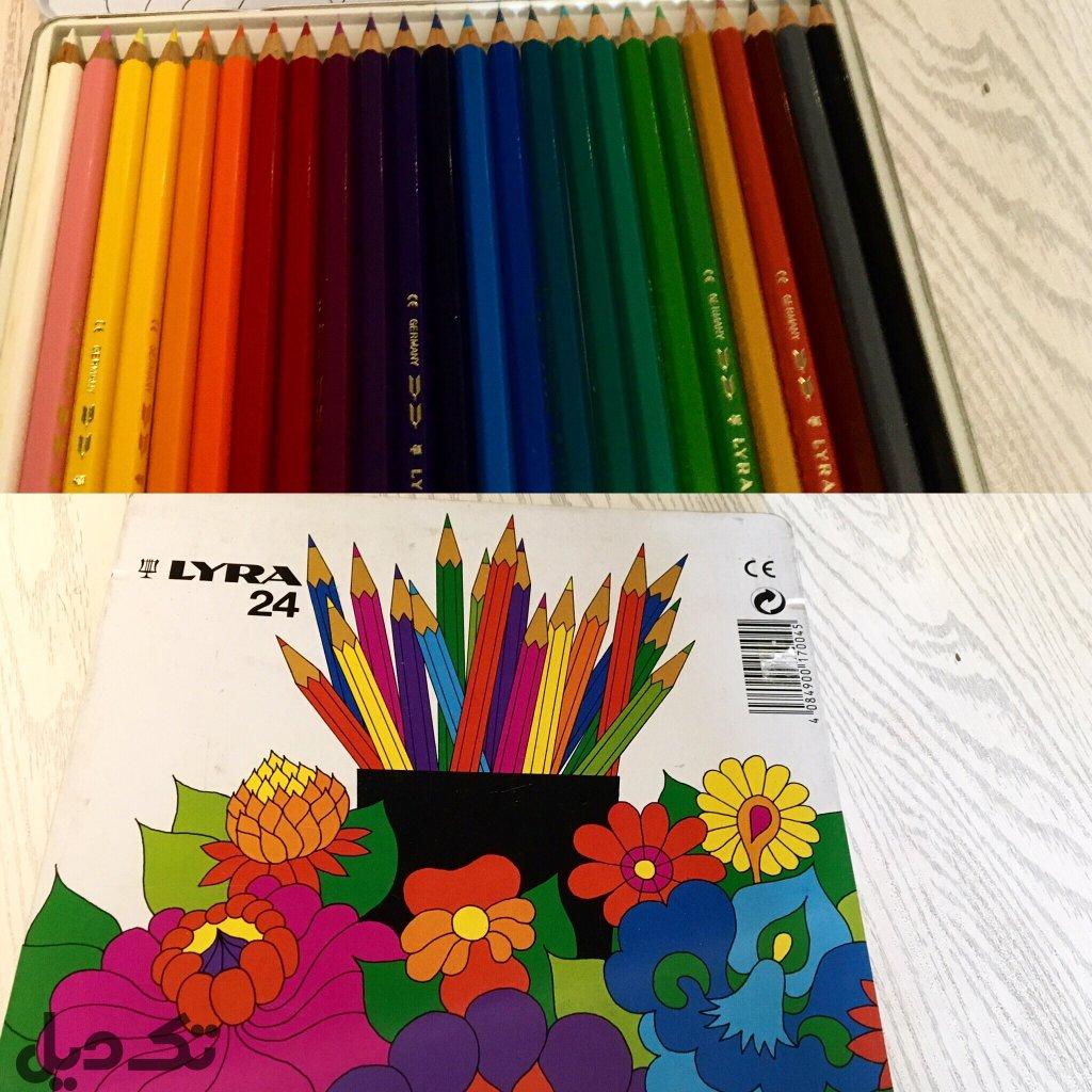 مداد رنگى ٢٤ رنگ لیرا