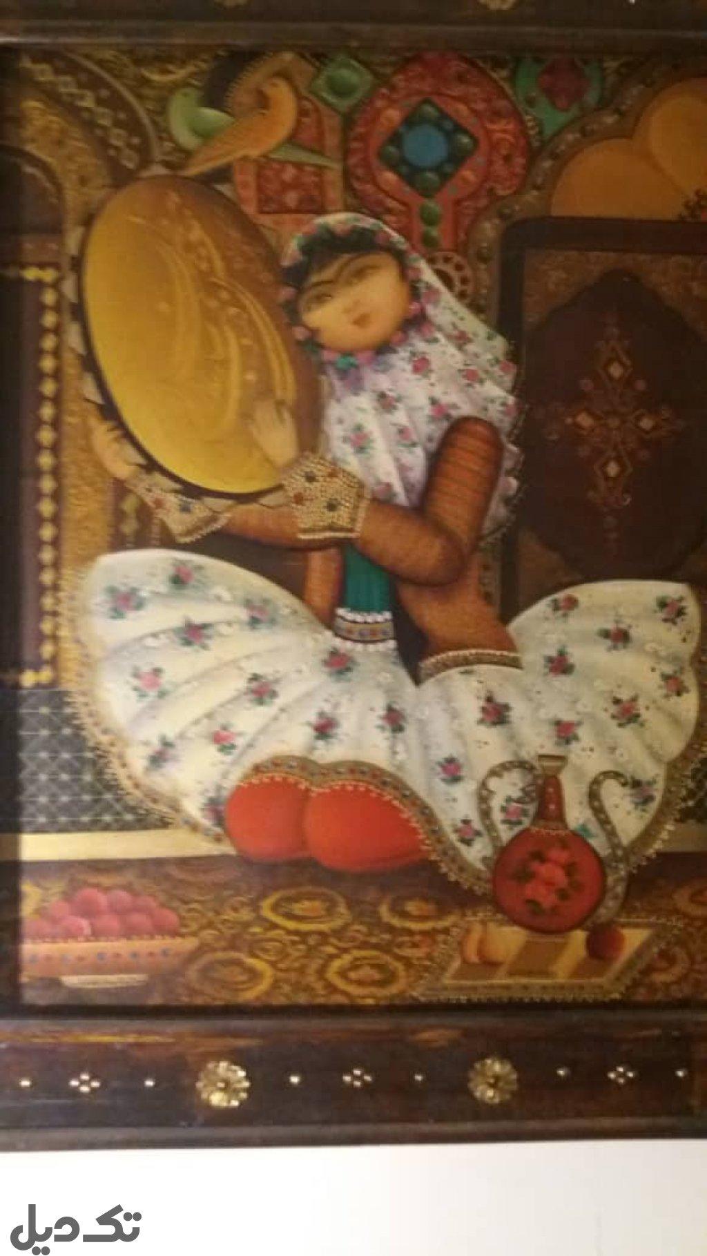تابلو فرش قاجاری