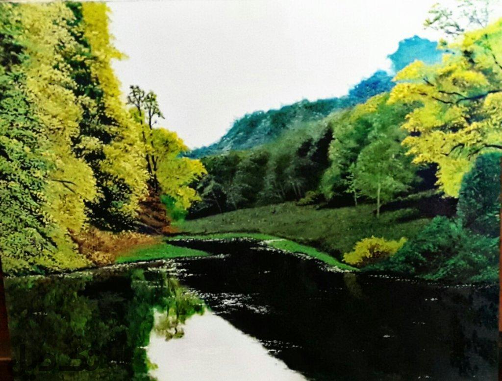 تابلو نقاشی رودخانه