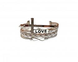 دستبد چرمی Love در فروشگاه اینترنتی